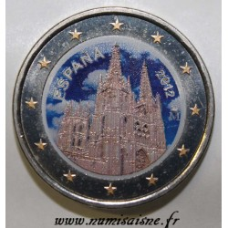 SPAIN - 2 EURO 2012 - CATHEDRAL OF BURGOS - COLOR