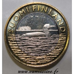 FINLAND - 5 EURO 2014 - Black-throated loon - Animal of the Province of Savonia
