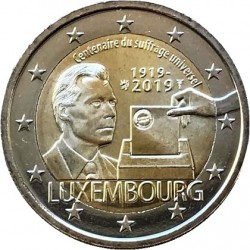 LUXEMBOURG - 2 EURO 2019 - CENTENARY UNIVERSAL SUFFRAGE