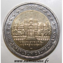 GERMANY - KM 260 - 2 EURO 2007 - CASTLE OF SCHWERIN - Mecklenburg-Western Pomerania