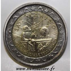SAINT-MARIN - KM 469 - 2 EURO 2005 - GALILÉE 1564-1642 - ANNÉE INTERNATIONALE DE LA PHYSIQUE