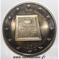 MALTE - 2 EURO 2015 - RÉPUBLIQUE 1974 - POINÇON