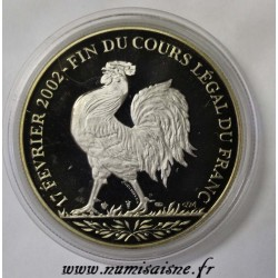 FRANCE - MÉDAILLE - FIN DU COURS LÉGAL DU FRANC - 2001