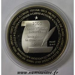FRANCE - MÉDAILLE - CONSTITUTION EUROPÉENNE - 2005