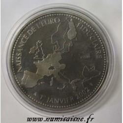 FRANCE - MÉDAILLE - NAISSANCE DE L'EUROPE - 2002