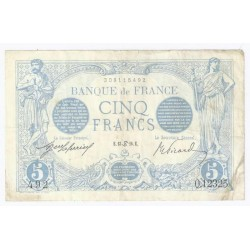 FAY 02/40 - 5 FRANCS BLEU - 13/06/1916 - CANCER - TRES TRES BEAU A SUP - PICK 70