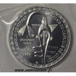ÉTATS DE L'AFRIQUE DE L'OUEST - KM 7 - 500 FRANCS 1972 - 10 ANS DE L'UNION MONÉTAIRE
