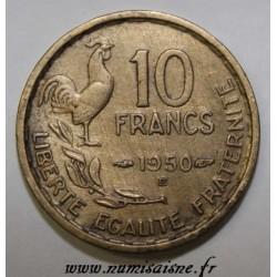 GADOURY 812 - 10 FRANCS 1950 B - Beaumont le Roger - TYPE GUIRAUD - KM 915.2