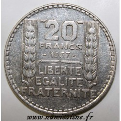 FRANCE - KM 879 - 20 FRANCS 1937 - TYPE TURIN