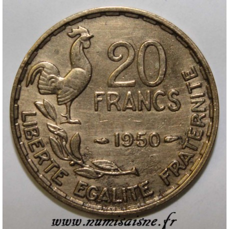 FRANCE - KM 916 - 20 FRANCS 1950 - TYPE GEORGES GUIRAUD - 3 FEATHERS