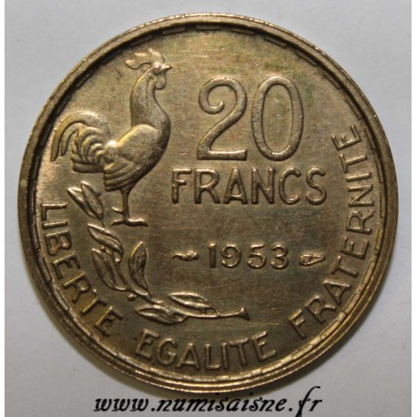 FRANCE - KM 917 - 20 FRANCS 1953 - TYPE G.GUIRAUD