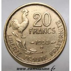 GADOURY 865 - 20 FRANCS 1953 B - TYPE G.GUIRAUD - KM 917