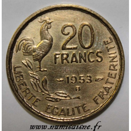 FRANCE - KM 917 - 20 FRANCS 1953 B - TYPE G.GUIRAUD