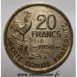 GADOURY 865 - 20 FRANCS 1950 - TYPE G.GUIRAUD - 4 PLUMES - KM 917