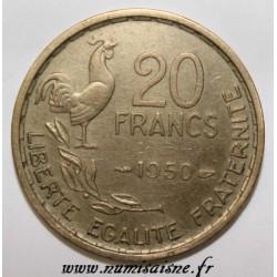 GADOURY 865 - 20 FRANCS 1950 - TYPE G.GUIRAUD - 4 PLUMES - KM 917.1