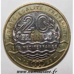 FRANCE - KM 1016 - 20 FRANCS 1993 - TYPE MEDITERRANEAN GAMES