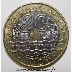 GADOURY 872 - 20 FRANCS 1993 - TYPE JEUX MEDITERRANEENS - KM 1016