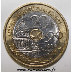 FRANCE - KM 1036 - 20 FRANCS 1994 - TYPE PIERRE DE COUBERTIN