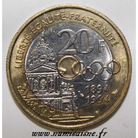 FRANCE - KM 1036 - 20 FRANCS 1994 - TYPE PIERRE DE COUBERTIN