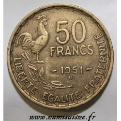 FRANCE - KM 918.1 - 50 FRANCS 1951 B - TYPE GUIRAUD