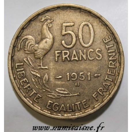FRANCE - KM 918.1 - 50 FRANCS 1951 B - TYPE GUIRAUD