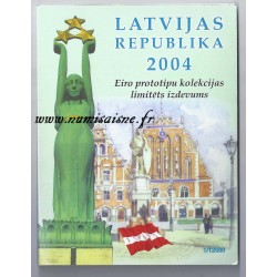 LETTONIE - COFFRET PROTOTYPE 8 PIÉCES - ESSAI - 2004