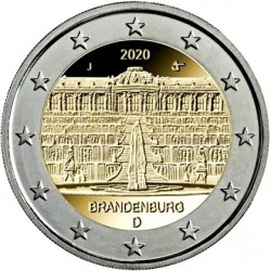 GERMANY - 2 EURO 2020 - 5 Mint mark A D F G J - BRANDEBURG AND SANSSOUCI CASTLE