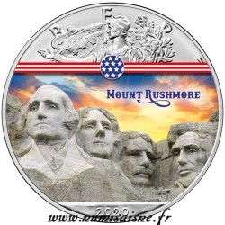USA - 1 DOLLAR 2020 - MOUNT RUSHMORE - 1 OZ SILVER