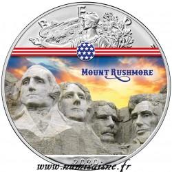 VEREINIGTEN STAATEN - 1 DOLLAR 2020 - MOUNT RUSHMORE - 1 UNZE SILBER
