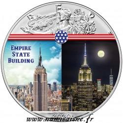 ÉTATS UNIS - 1 DOLLAR 2020 - EMPIRE STATE BULDING - 1 ONCE ARGENT
