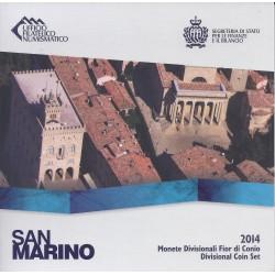 SAN MARIN - COFFRET EURO BRILLANT UNIVERSEL 2014 - 8 PIECES (3.88 euros)