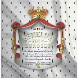 BENELUX - COFFRET EURO BRILLANT UNIVERSEL 2014 - 24 PIECES (11.64 euros) + 1 MEDAILLE