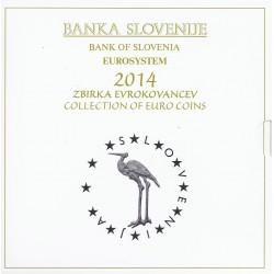 SLOVENIEN - KMS ST EURO 2014 - 10 WÄHRUNGEN - gebraucht