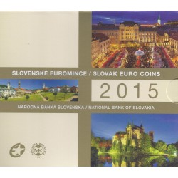 SLOVAKIA - 3.88€ MINTSET 2015 - UNC in Blistercard - 8 coins + 1 medal