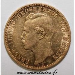 GERMAN STATES - HESSEN - KM 371 - 20 MARK 1896 A - GOLD