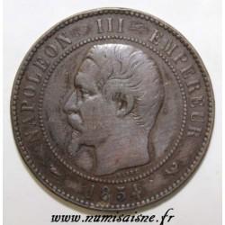 GADOURY 251 c - MODULE OF 10 CENTIMES 1854 - TYPE NAPOLEON III - KM M24b
