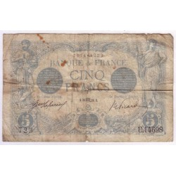 FAY 02/44 - 5 FRANCS BLEU - 1916 - SCORPION - TRES BEAU - PICK 70