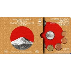 SLOVAKIA - 3.88€ MINTSET 2020 - UNC in Blistercard - 8 coin and 1 medal (Olympic games in Tokyo)