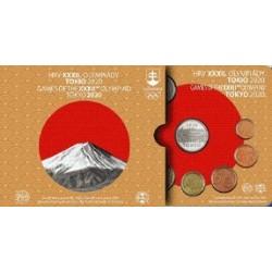 SLOVAQUIE - COFFRET EURO BRILLANT UNIVERSEL 2020 - 8 PIECES (3.88 euros) + 1 MEDAILLE JO DE TOKYO