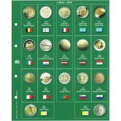 Premium album sheets for 2 € coins