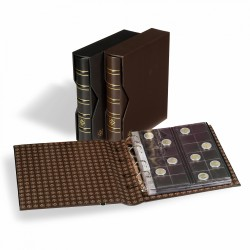 Ring binder OPTIMA, classic leather design incl. Slipcase