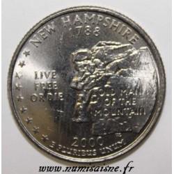 UNITED STATES - KM 308 - 1/4 DOLLAR 2000 P - Philadelphia - NEW HAMPSHIRE