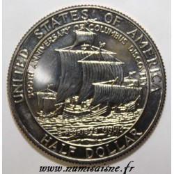 UNITED STATES - KM 237 - 1/2 DOLLAR 1992 D - Denver - Columbus Discovery
