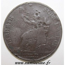 REVOLUTION - 2 SOLS OF MONNERON - 1791