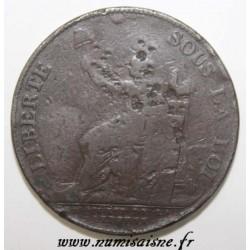 REVOLUTION - 2 SOLS OF MONNERON - 1791