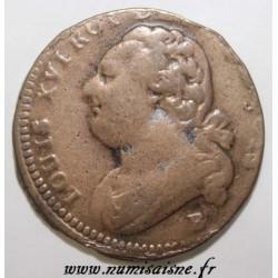 FRANCE - Gad 15 - CONSTITUTION - 12 DENIERS - B - Rouen - Transformed into a wedding medal