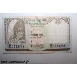 NEPAL - PICK31b - 10 RUPEES 1985/87 - NON DATÉ - Sign 13