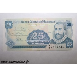 NICARAGUA - PICK 170a - 25 CENTAVOS - (1991)