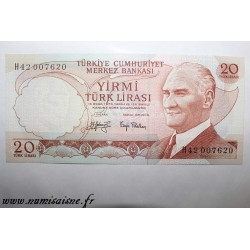 TURKEY - PICK 187 b - 20 LIRA - Not dated (1970)