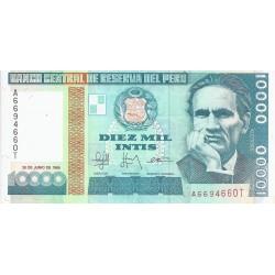 PERU - PICK 140 - 10 000 INTIS - 28/06/1988